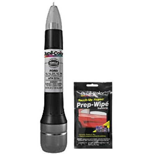 Dupli-Color AFM0236 Metallic Silver Charcoal Exact-Match Scratch Fix All-in-1 Touch-Up Paint for Ford Vehicles (D1,YN,1Q,9Z) Bundle with Prep Wipe Towelette (2 Items)