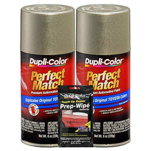 Dupli-Color Antique Sage Pearl Exact-Match Automotive Paint for Toyota Vehicles - 8 oz, Bundles Prep Wipe (3 Items)