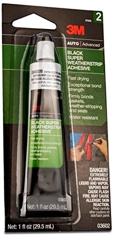 3M Black Super Weatherstrip Adhesive, 03602, 1 oz