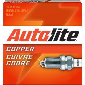 Autolite 145-4PK Copper Resistor Spark Plug, Pack of 4