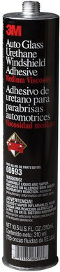 3M Auto Glass Urethane Windshield Adhesive, 08693, 10.5 fl oz Cartridge