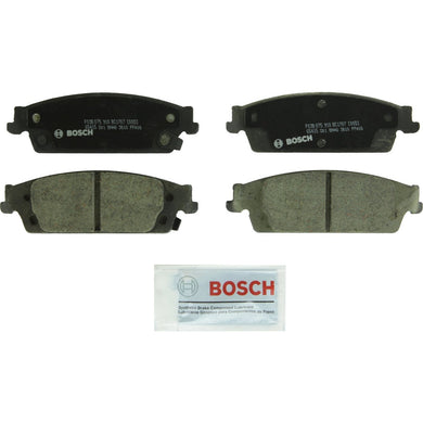 Bosch BC1707 QuietCast Premium Ceramic Disc Brake Pad Set For Select Cadillac Escalade, Escalade ESV; Chevrolet Silverado 1500, Suburban, Tahoe; GMC Sierra 1500, Yukon, Yukon XL; Rear