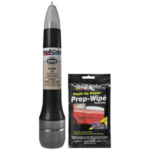 Dupli-Color AFM0354 Arizona Beige Exact-Match Scratch Fix All-in-1 Touch-Up Paint for Ford Vehicles (AQ) Bundle with Prep Wipe Towelette (2 Items)