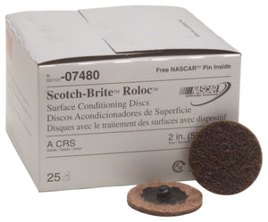 "3M 07480 Roloc 2"" Coarse Surface Conditioning Disc ( Pack of 25)"