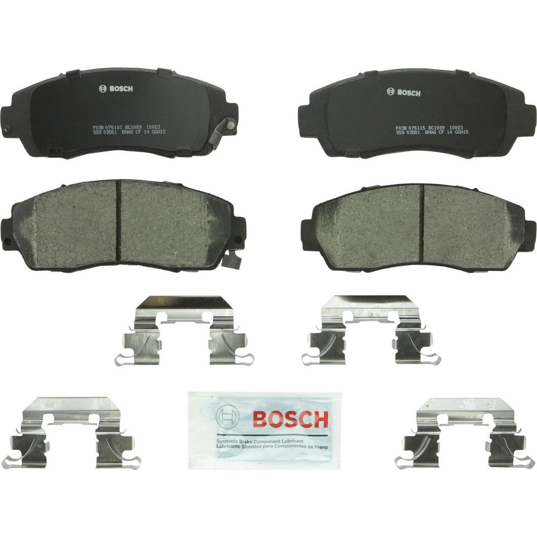 Bosch BC1089 QuietCast Premium Ceramic Disc Brake Pad Set For: Acura RDX; Honda Accord Crosstour, Crosstour, CR-V, Odyssey, Front