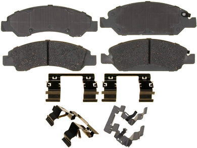 ACDelco 14D1367CH Advantage Ceramic Front Disc Brake Pad Set with Hardware