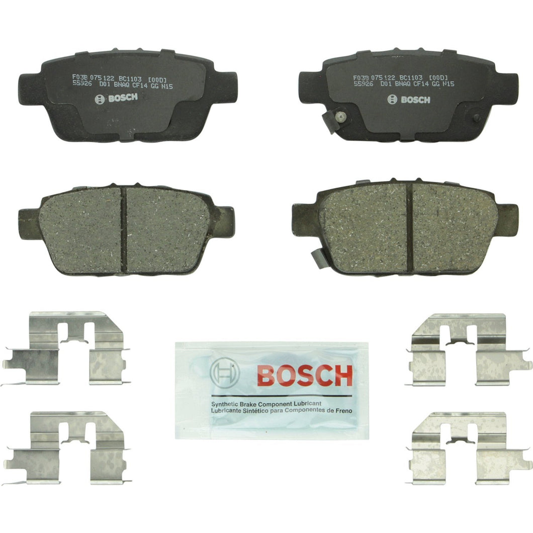 Bosch BC1103 QuietCast Premium Ceramic Disc Brake Pad Set For: Acura TL; Honda Ridgeline, Rear