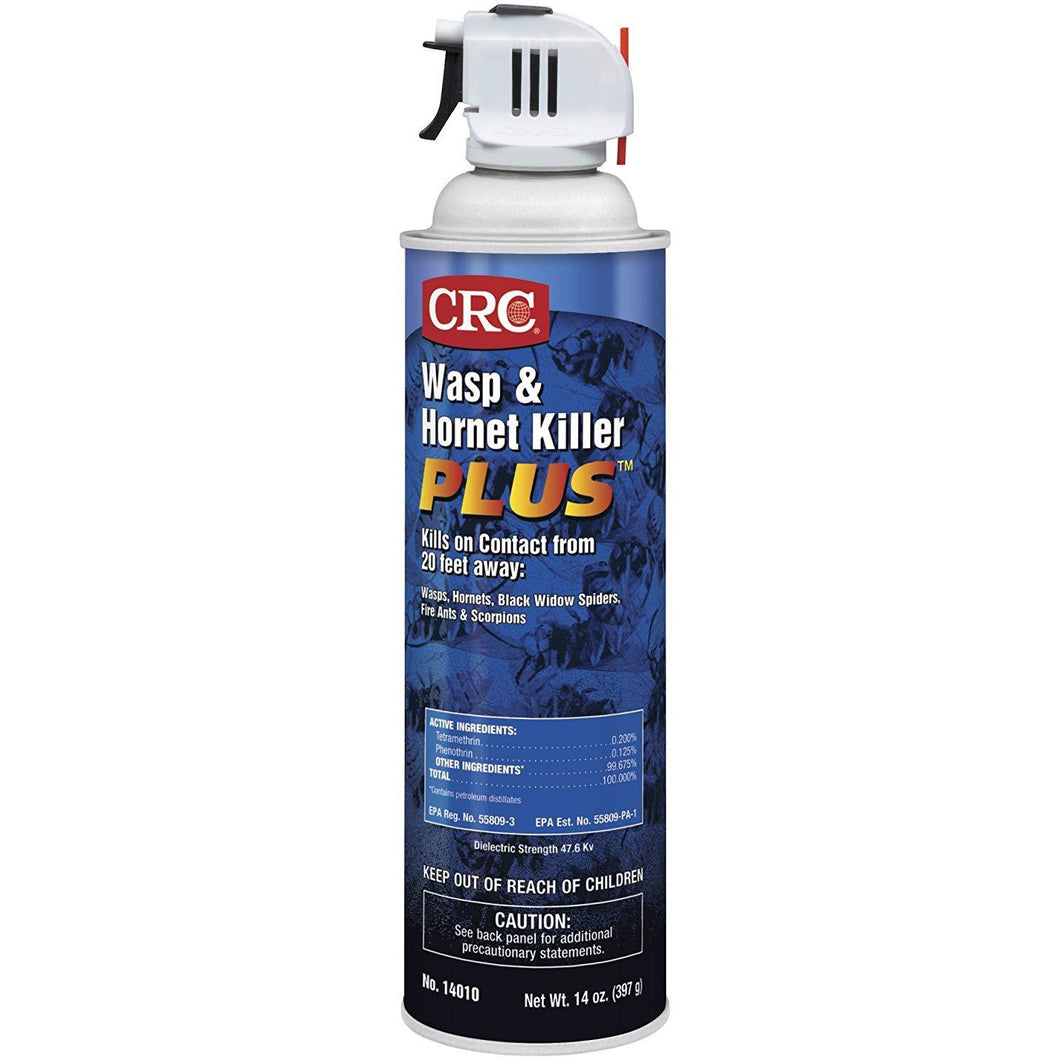CRC 14010 Wasp and Hornet Killer Plus Insecticide, 14 oz