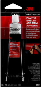 3M Plastic Emblem and Trim Adhesive, 03601, 1 fl oz
