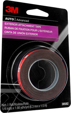 3M Exterior Attachment Tape, 38582, 1/4 in x 5 ft