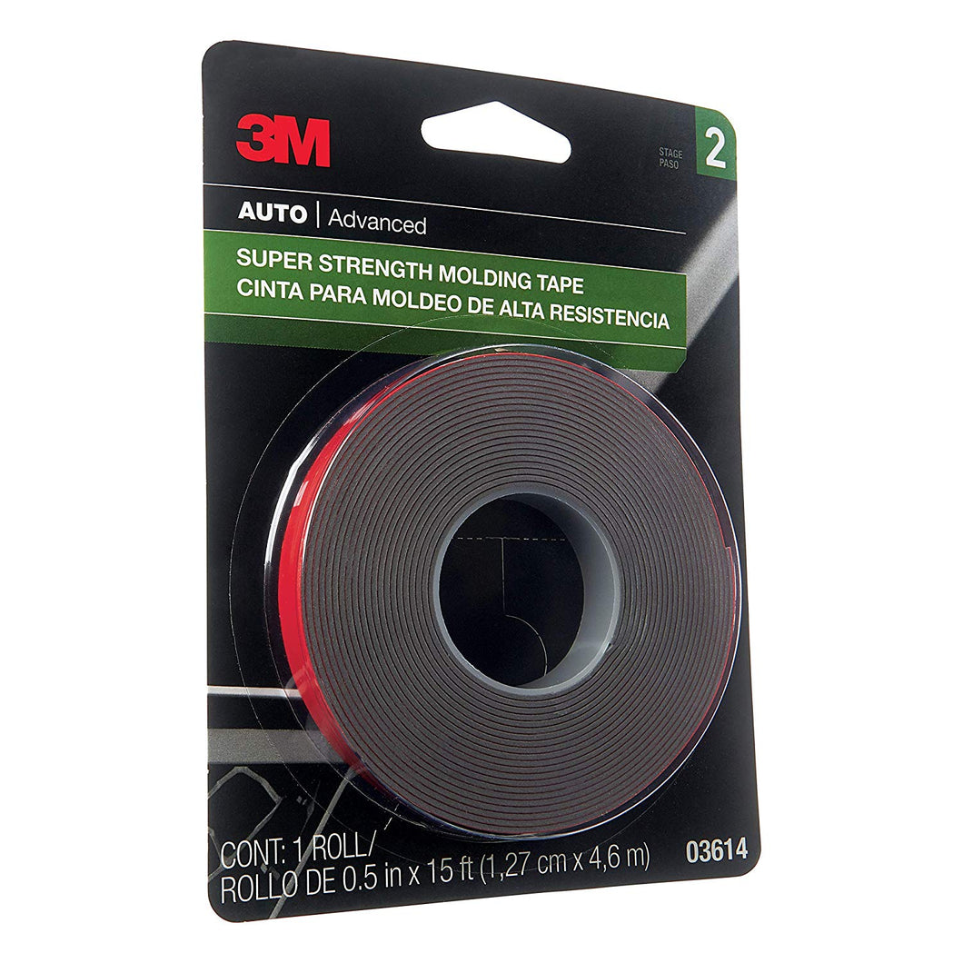 3M 03614 Scotch-Mount 1/2 x 15' Molding Tape