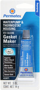 Permatex 22071 Water Pump and Thermostat RTV Silicone Gasket, 0.5 oz., 0.5 Ounce