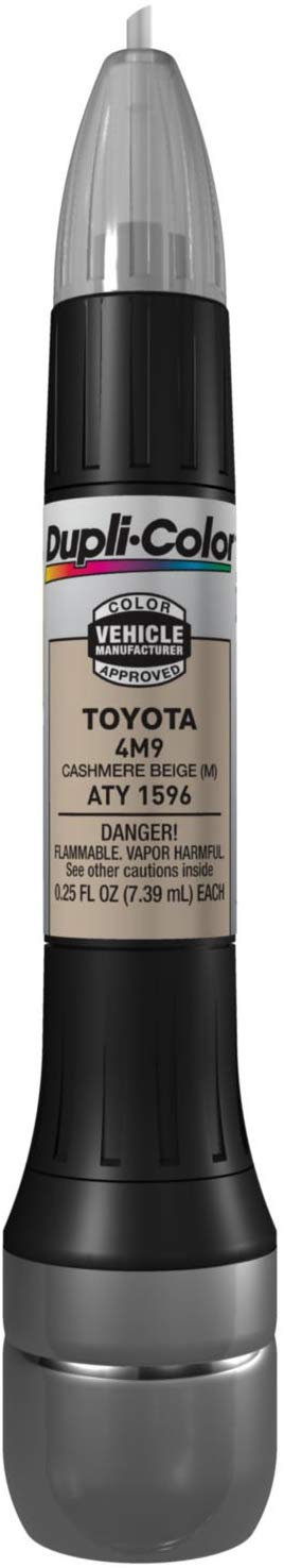 Dupli-Color ATY1596 Metallic Cashmere Beige Toyota Exact-Match Scratch Fix All-in-1 Touch-Up Paint - 0.5 oz.