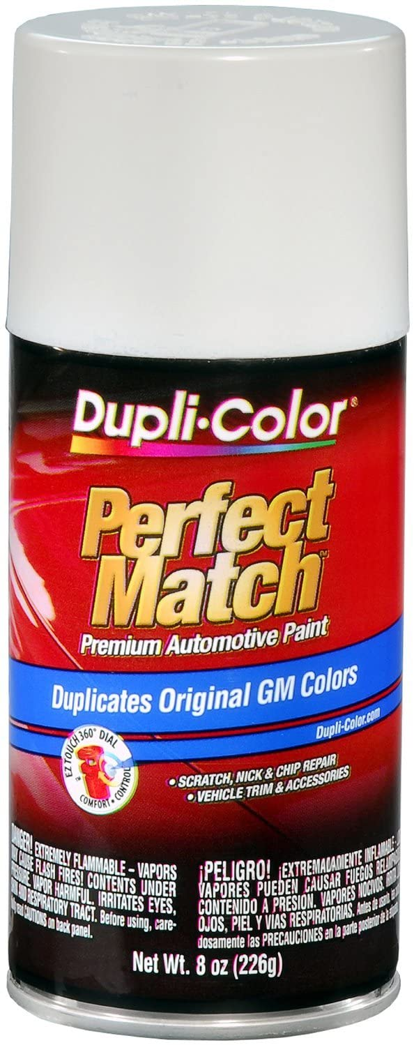 Dupli-Color EBGM03387 White General Motors Perfect Match Automotive Paint - 8 oz. Aerosol