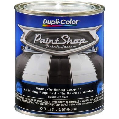 Dupli-Color BSP200 Jet Black Single Paint Shop Finish System - 32oz