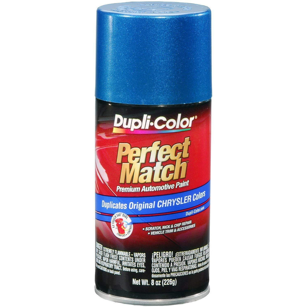 Dupli-Color BCC0422 Intense Blue E7 Pearl Chrysler Perfect Match Automotive Paint - Aerosol, 8. Fluid_Ounces