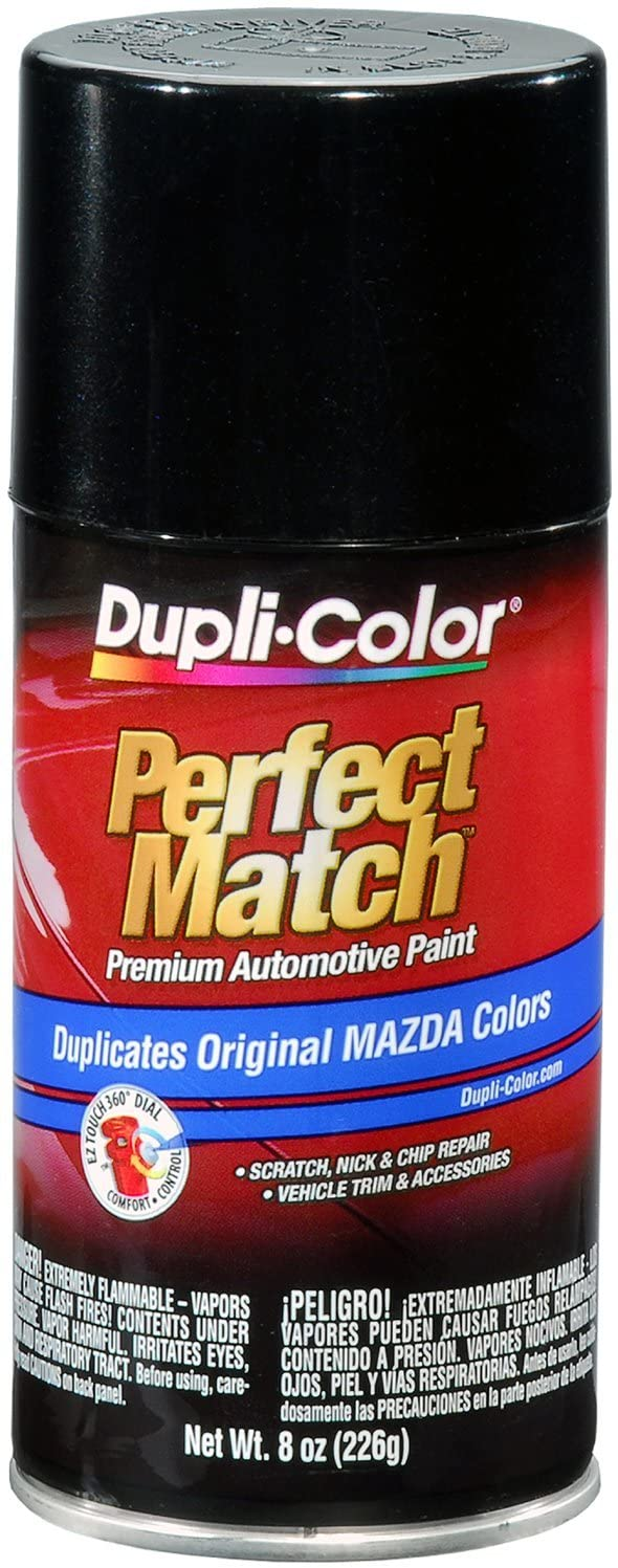 Dupli-Color EBMZ11597 Black Mica Mazda Perfect Match Automotive Paint - 8 oz. Aerosol