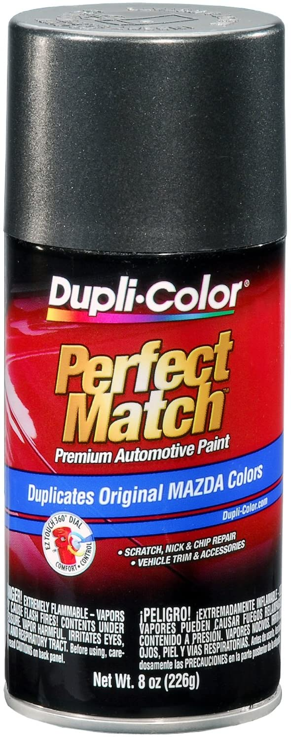 Dupli-Color BMZ1160 Graphite Mica Metallic Mazda Perfect Match Automotive Paint - 8 oz. Aerosol