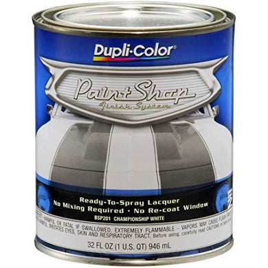 Dupli-Color Paint Shop Champion White BSP201, 32oz