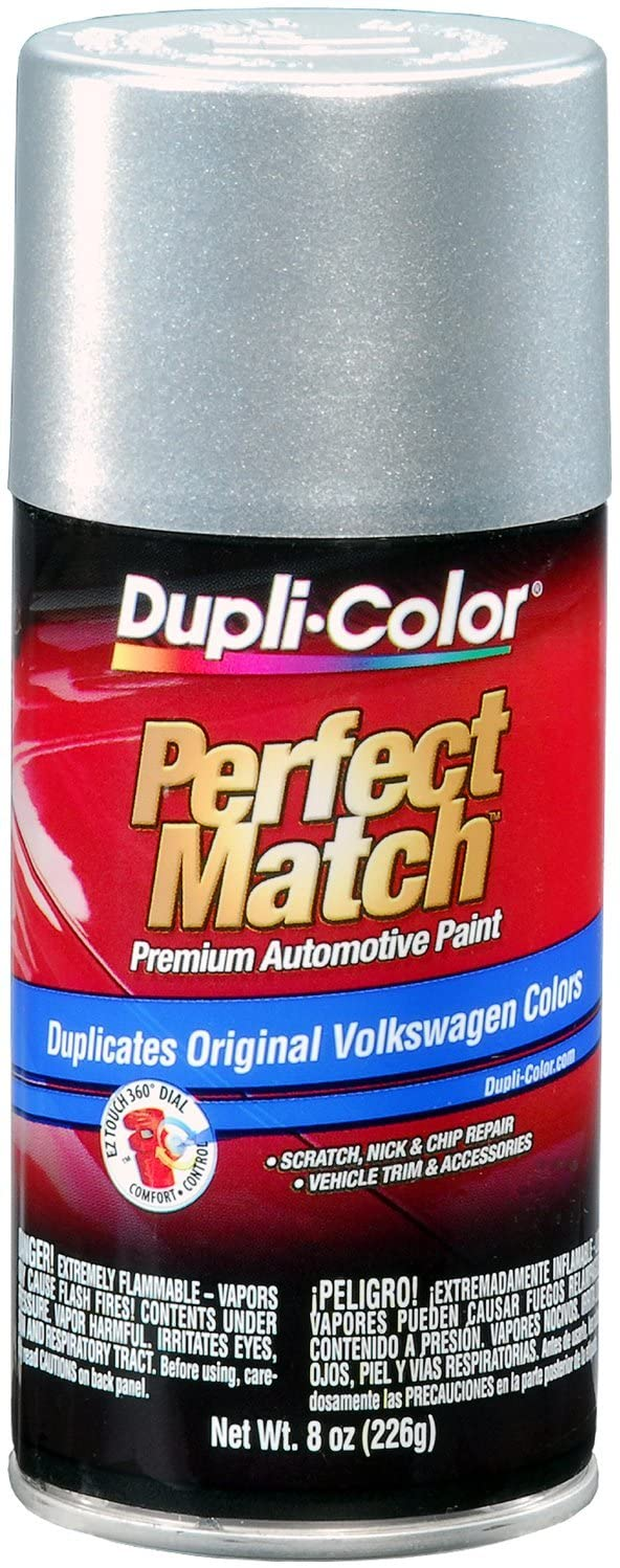 Dupli-Color EBVW20397 Reflex Silver Metallic Volkswagen Perfect Match Automotive Paint - 8 oz. Aerosol