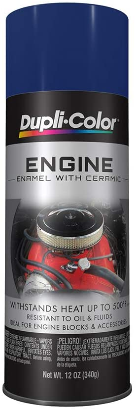 Dupli-Color DE1606 Ceramic Ford Dark Blue Engine Paint - 12 oz.
