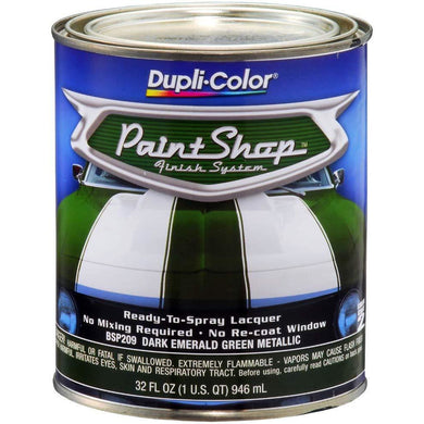 Dupli-Color BSP209 Dark Emerald Green Metallic Paint Shop Finish System - 32 oz