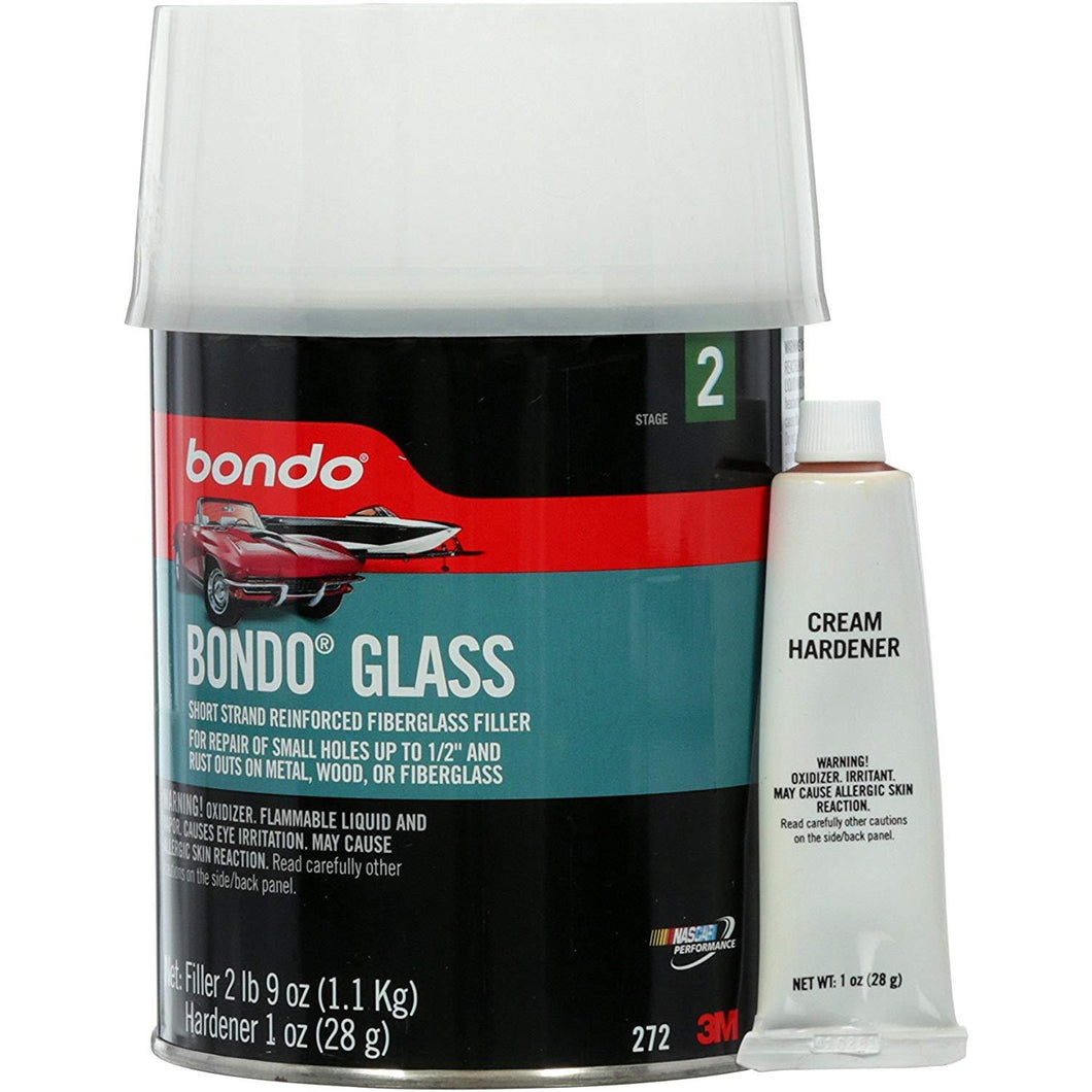 Bondo 272 Glass, Short Strand Reinforced Fiberglass Filler,Stage 2, 2Lbs 9 Ounces