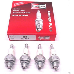 4 Pack Genuine Champion RCJ6Y Spark Plug Copper Plus 852
