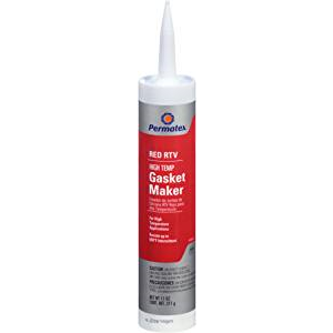 Permatex 81409 High-Temp Red RTV Silicone Gasket, 11 oz.
