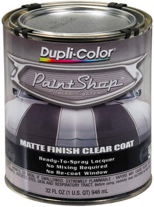 Dupli-Color BSP307 'Paint Shop' Matte Finish Clear Coat Finish System Top Coat - 1 Quart, (Case of 2)