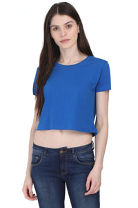 Royal Blue Crop Top