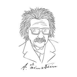 Albert Einstein White Tshirt