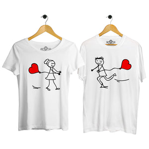 Balloon Wala Love Couple T-shirt