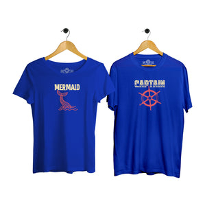 Captain & Mermaid Couple T-shirt