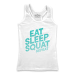 Eat Sleep Squat Repeat Tank Top