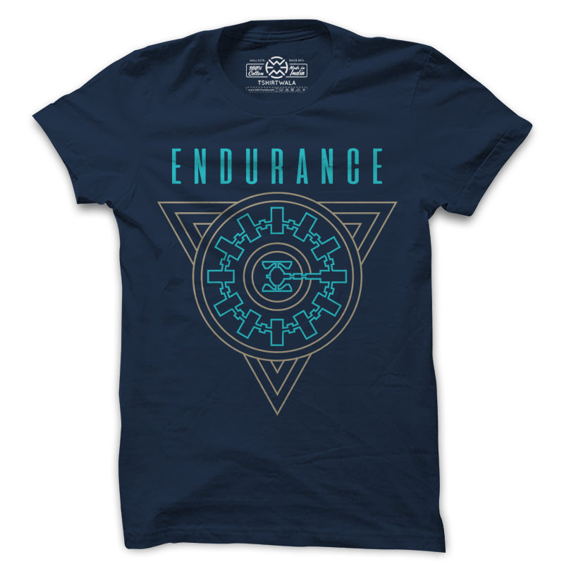 Interstellar's Endurance Spaceship Blue Tshirt