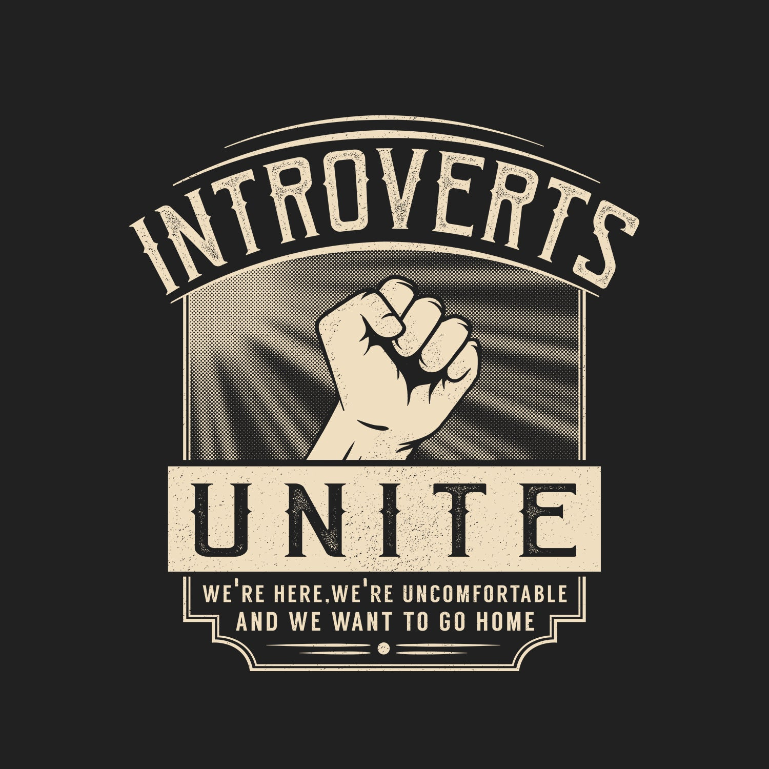 Introverts, Unite! T-shirt