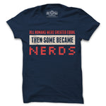 Proud nerd navy blue tshirt