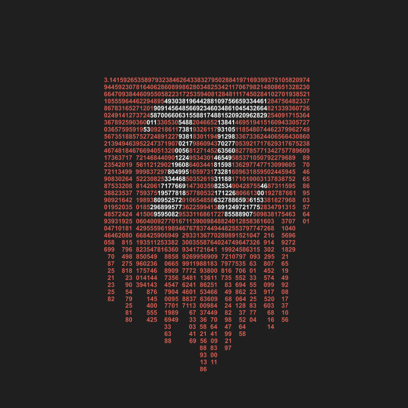 Pi math black tshirt