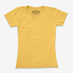 Basic Yellow Half Sleeve T-shirt