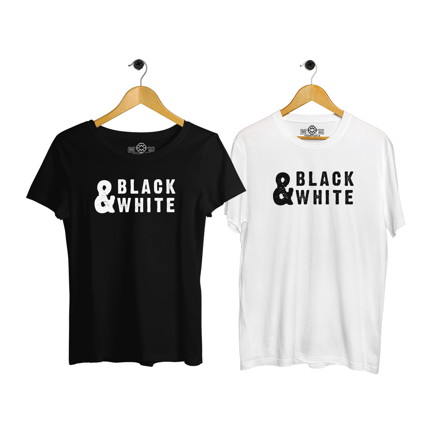 Black & White Couple T-shirt
