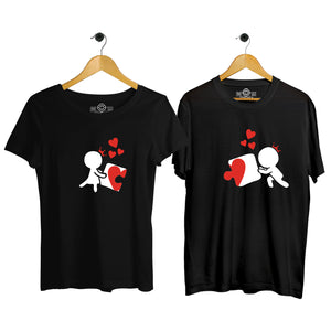 complete my heart couple tshirt