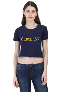 Women's Cute AF Crop Top