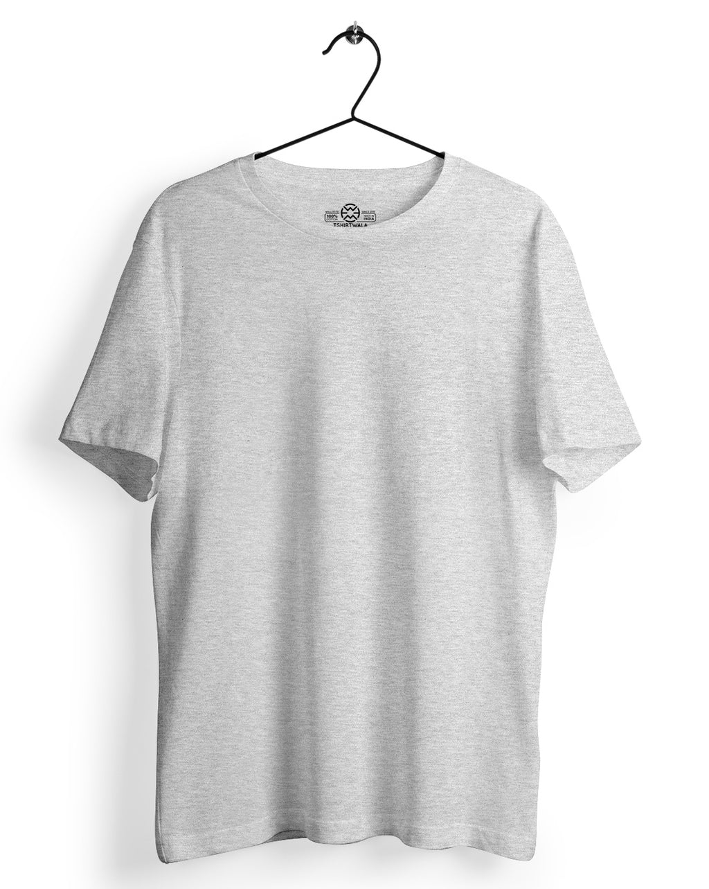 Basic Grey Melange Round neck T-shirt