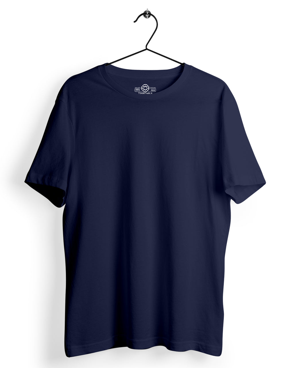 Basic Navy Blue Round neck T-shirt