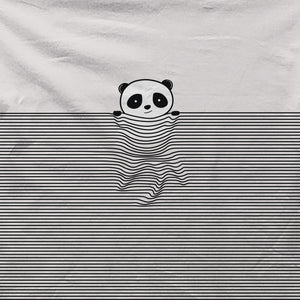 Panda in a blacket - All Over Print T-shirt