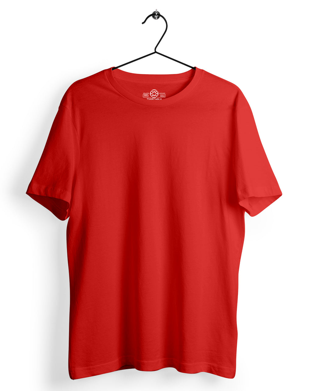 Basic Red Round neck T-shirt