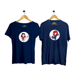 Spidey Love Couple T-shirt