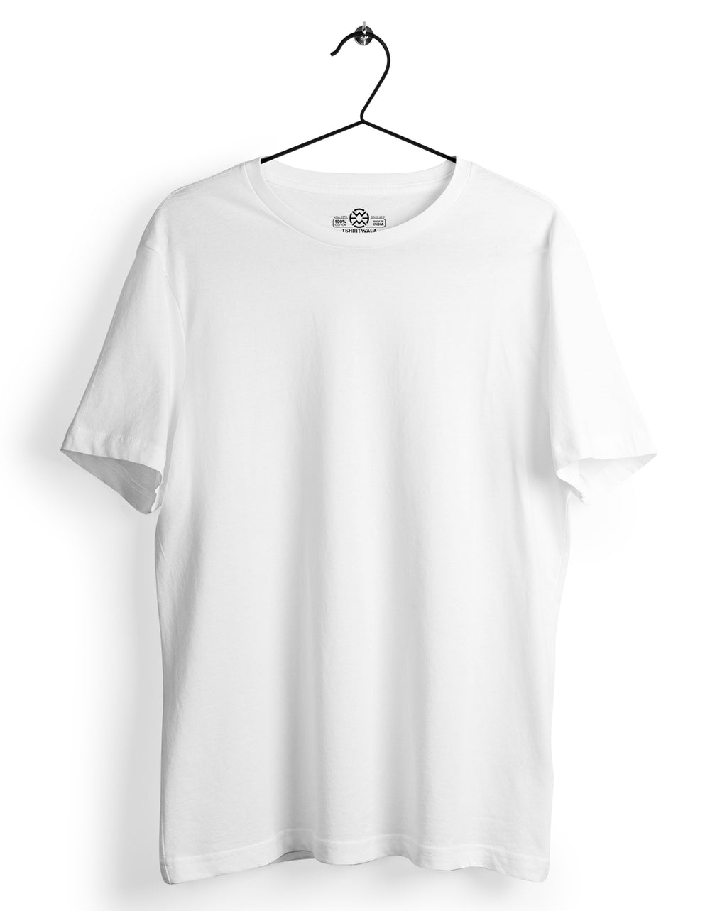 Basic White Round neck T-shirt