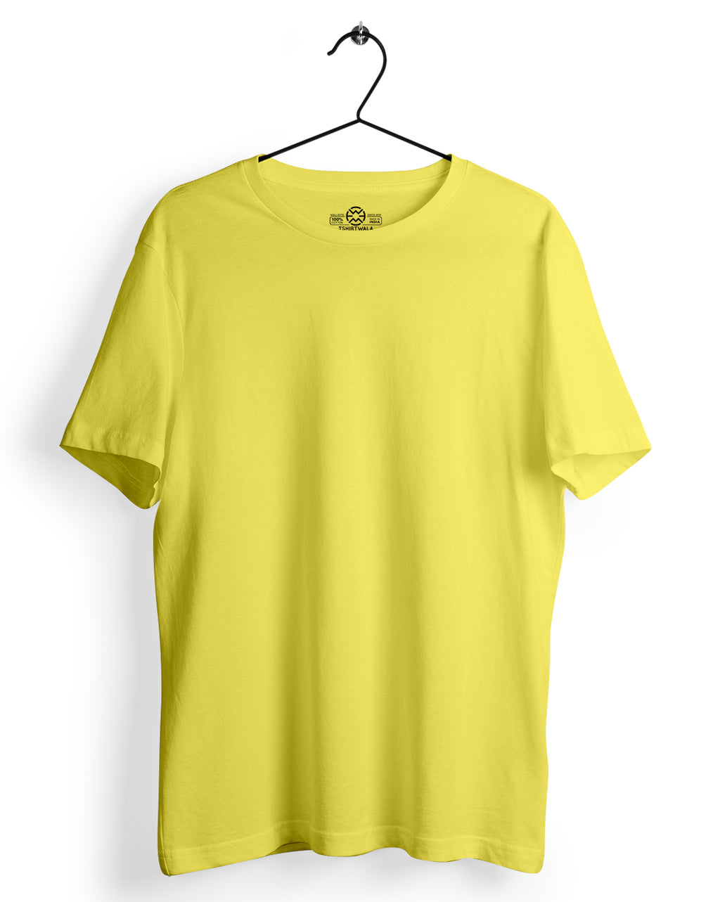 Basic Yellow Round neck T-shirt